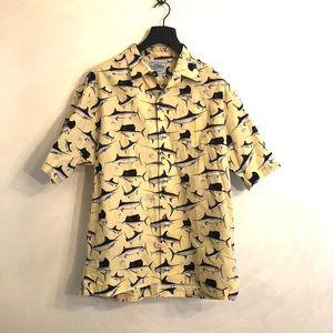 [Guy Harvey] Yellow Marlin Button Down Shirt